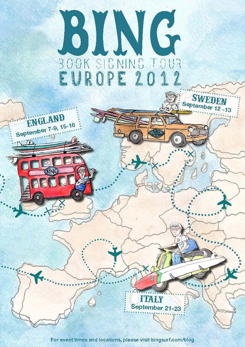 Bing Europe tour 2012 – Sweden, England & Italy