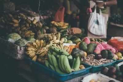 Fruit market in Sri Lanka