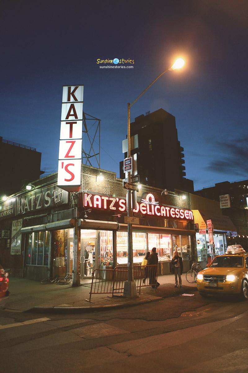 Sunshinestory;  Katz's Deli, NYC