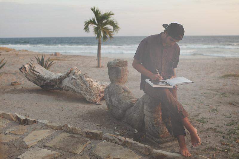 Sunshinestory; Jesse Hinkle (Surfer, Artist, Bing teamrider) in Malibu, California