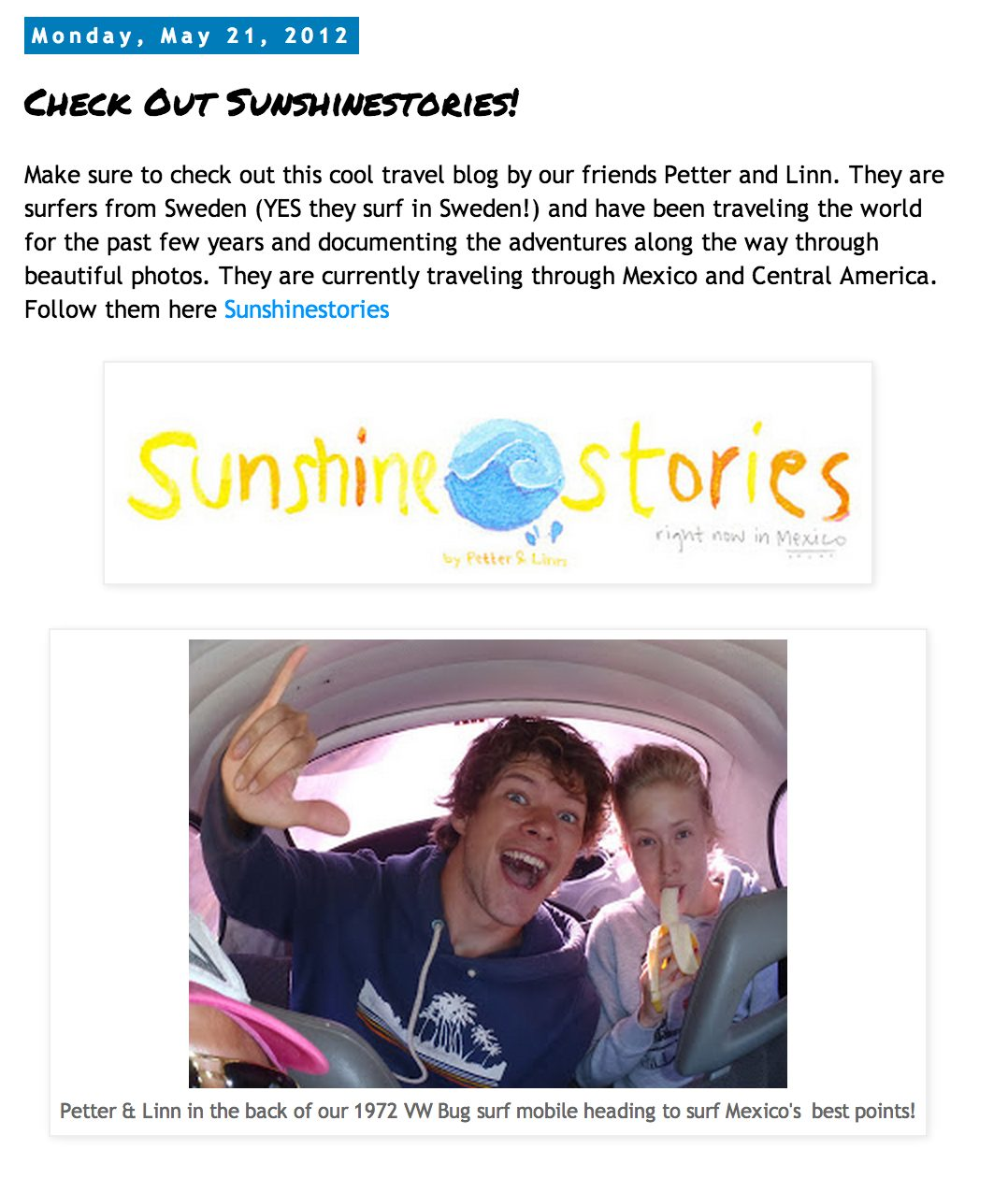 Sunshinestories in Mexico