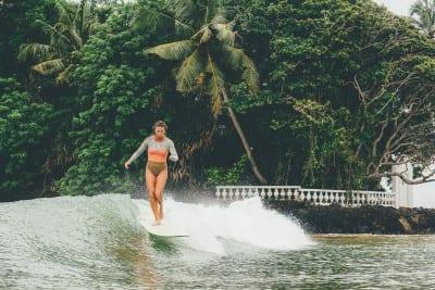 Karson surfing in Weligama
